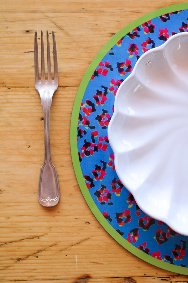 Leopard Flower Placemat - Peacock