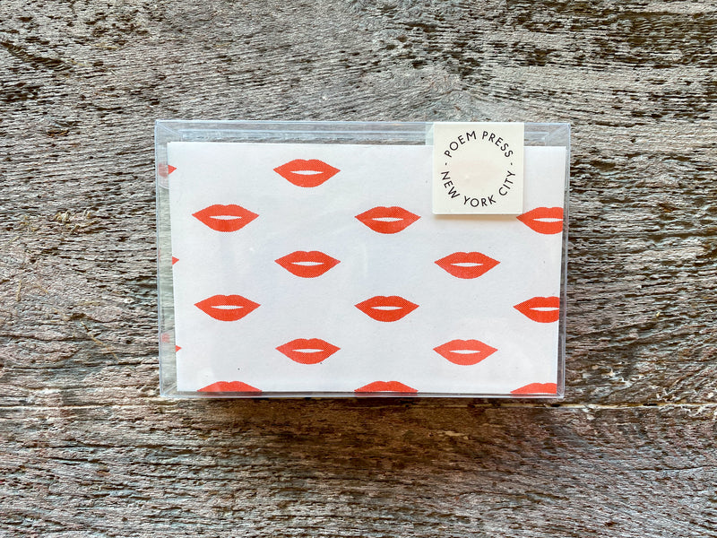 Poem Press Notecards Set of 12 - Red Lips