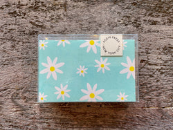 Notecards Set of 12 - Mint Daisy