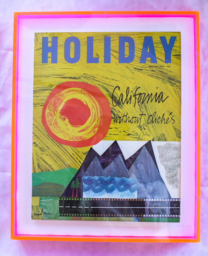 "Framed Holiday Magazine Cover - October 1965, ""California Without Clichés"""