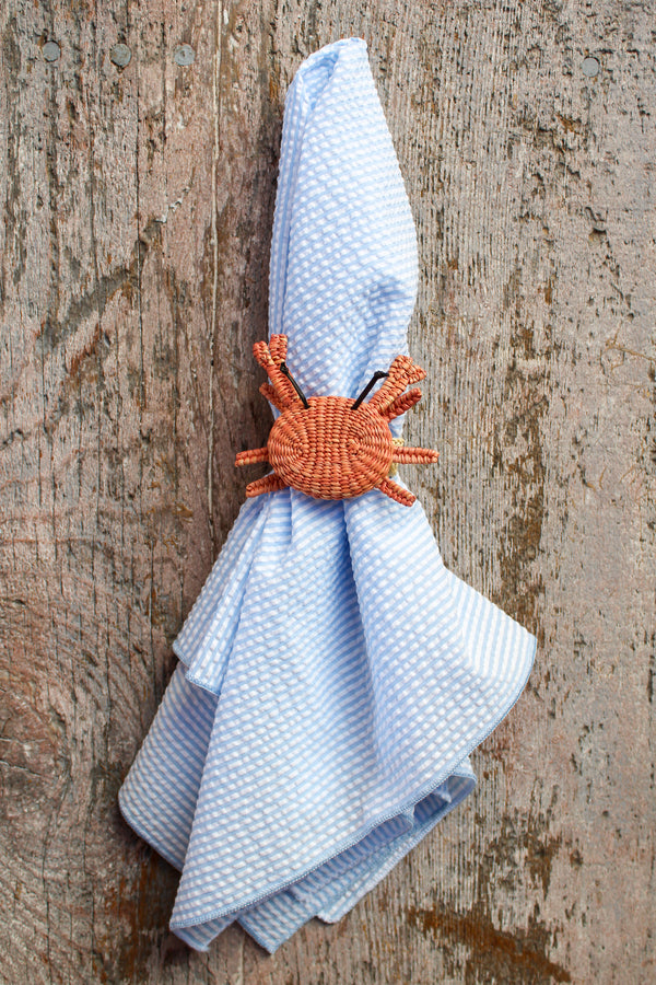 Woven Sea Life Napkin Ring - Crab