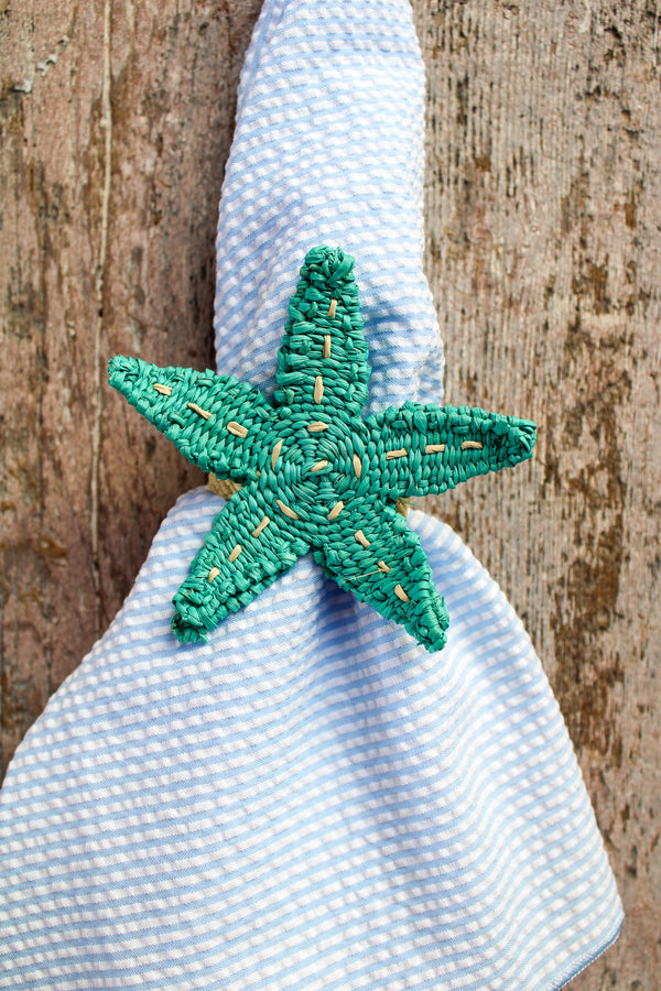 Woven Sea Life Napkin Ring - Starfish
