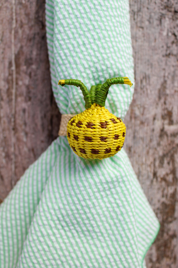Woven Fruit Napkin Ring - Pineapple