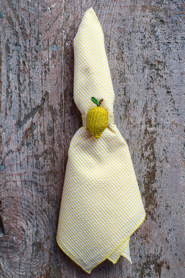 Woven Fruit Napkin Ring - Lemon