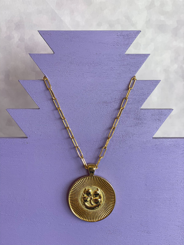 Coin Pendant Necklace - Lucky