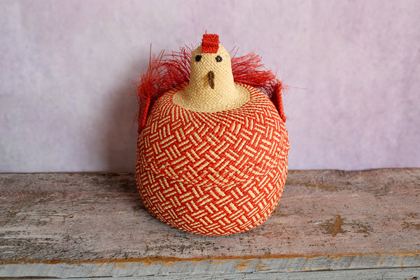 Gallina Jospehina (Woven Chicken Basket) - Red