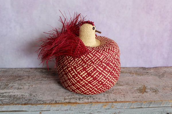 Gallina Jospehina (Woven Chicken Basket) - Brick