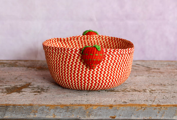 Tabletop Mini Basket - Strawberry