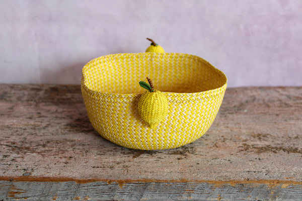 Tabletop Mini Basket - Lemon