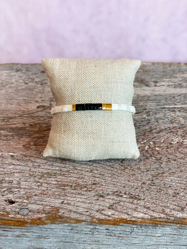 Supernova Bracelet - Black/White/Gold