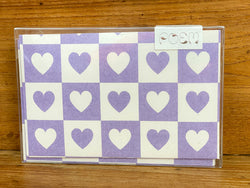 Notecards Set of 12 - Violet Hearts