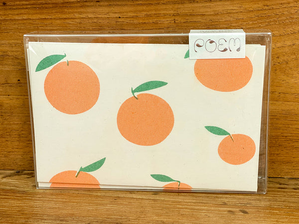 Notecards Set of 12 - Oranges