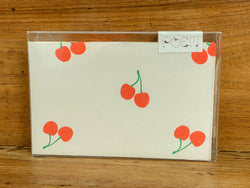 Notecards Set of 12 - Cherry
