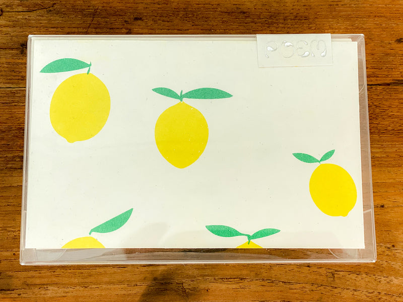Notecards Set of 12 - Lemons