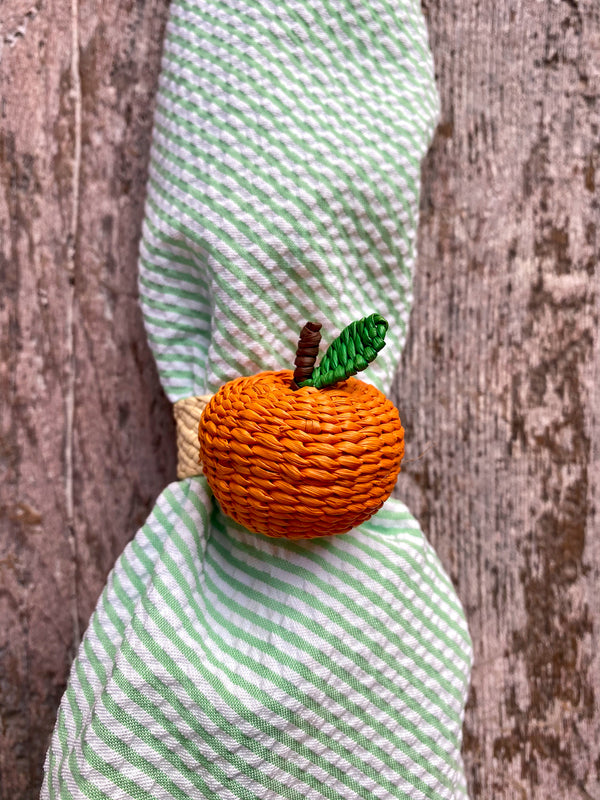 Woven Fruit Napkin Ring - Orange