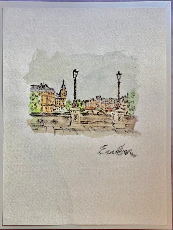 Paris - Bridge/Lamppost (Original)