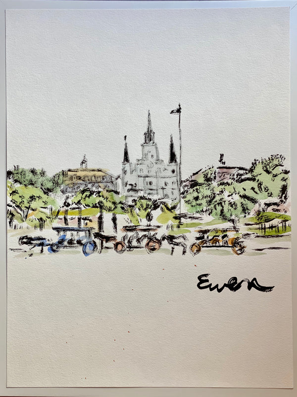 New Orleans - Jackson Square w/ Carts (Original)