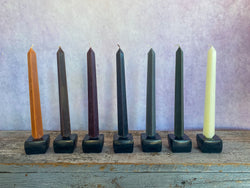 Obelisk Square Taper Candles, Set of 2 - NEUTRAL