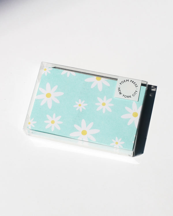 Poem Press Notecards Set of 12 - Mint Daisy