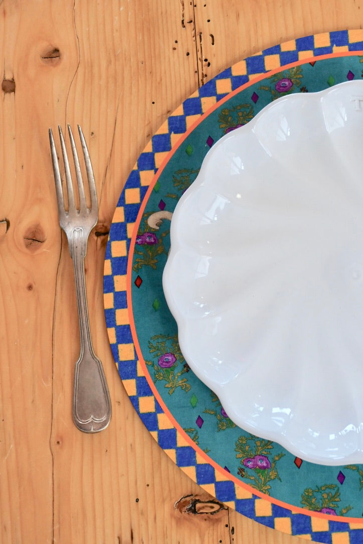 Elephant Placemat - Peacock