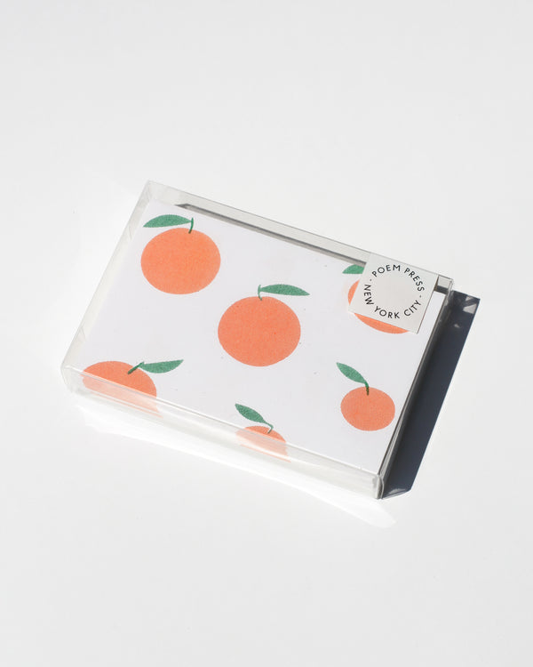 Poem Press Notecards Set of 12 - Oranges