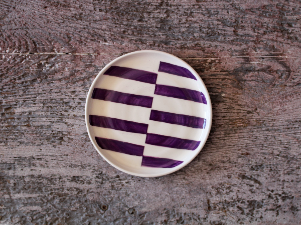 Hand Painted Mini Dish - Lines