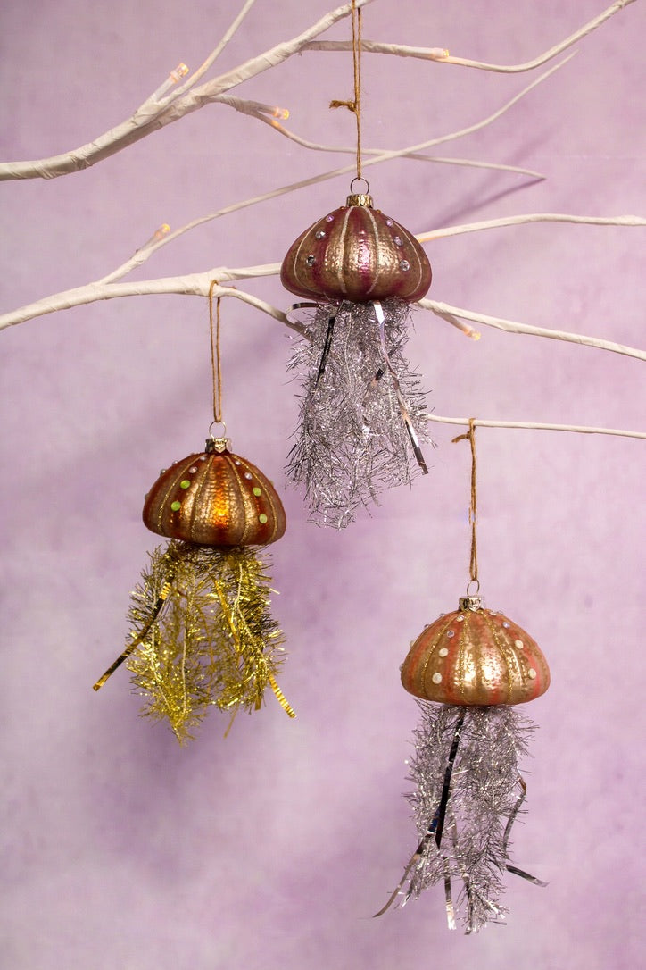 Tinsel Jellyfish Ornament