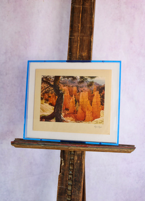 1950s Photo Print with Neon Lucite Frame - Bryce Canyon