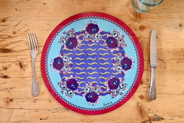 Tiger Touch Placemat - Blue
