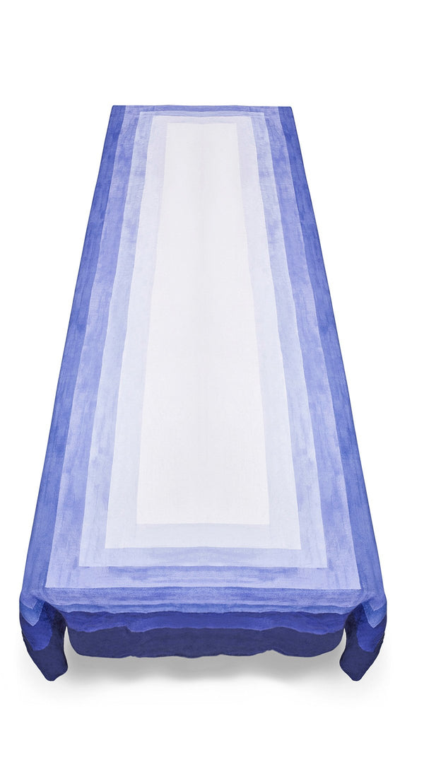 Shades of Light Linen Tablecloth - Blue