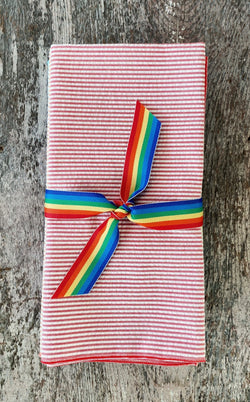 Seersucker Napkins Rainbow Set of 8
