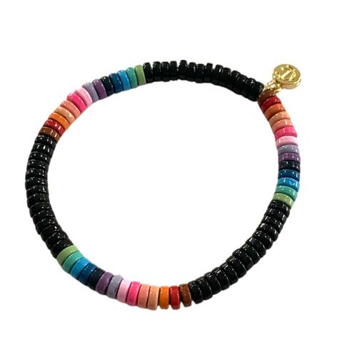 Laguna Bracelet - Black Multi Rainbow