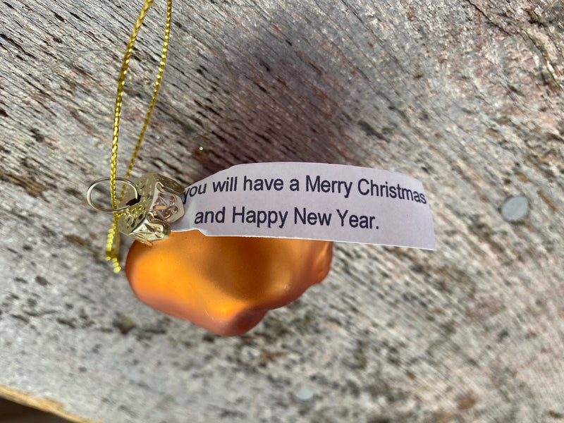 Fortune Cookie Ornament
