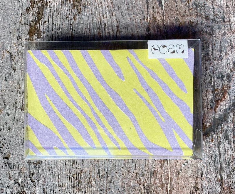 Notecards Set of 12 - Neon Zebra