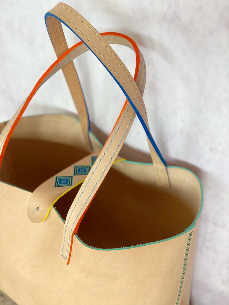 Painted Leather Tote