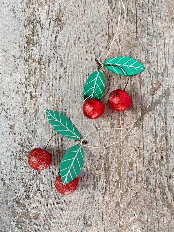 Cherries Ornament