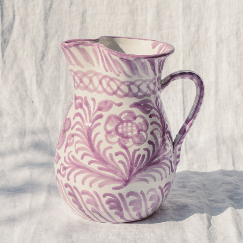 Medium Hand Painted Pitcher - Lilac