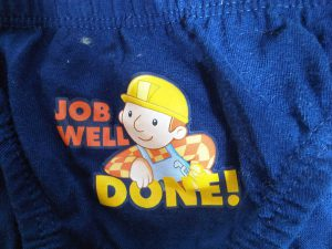 Bob the Builder toddler knickers - close up