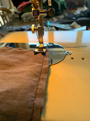 Sewing the lavender eye pillows