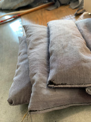 A pile of finished lavender eye pillows