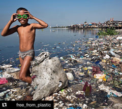 The Sisyphean Task of Cleaning Up our Planet, courtesy of Free From Plastic on Instagram