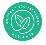 FSC certified, recyclable, biodegradable, compostable, acid free paper, with soy-based inks, from No Issue.