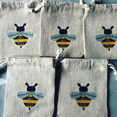 Wildflower Seedbomb Gift Bag (Bag Only), by Bee Wild - £2
