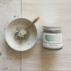 Natural, Plastic Free Clay & Chamomile Face Mask, by Natur - £12