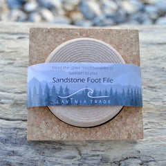 Natural Orsa Sandstone Foot File, by Lavinia - £21.50