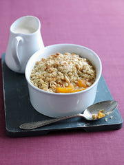 Apricot & Cardamom Crumble: Food for breastfeeding Mums