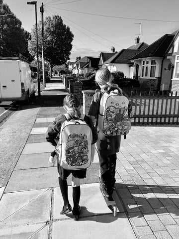 Back to School for my Year 3 and Year 6 girls