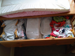 Reusable nappies in drawer