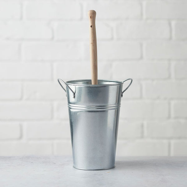 Plastic Free Natural Bristle Toilet Brush & Holder, by Eco Living