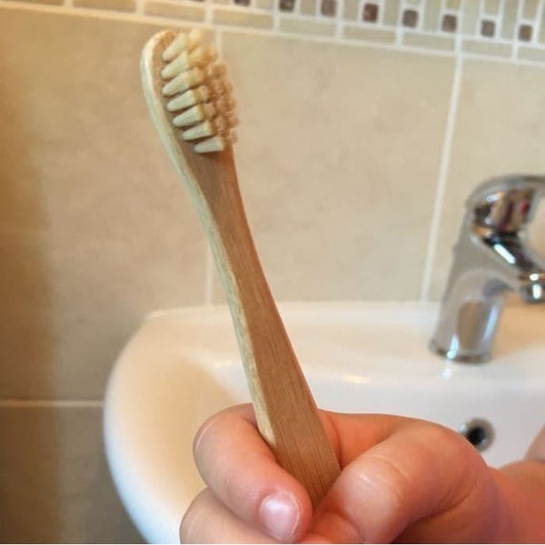Bamboo Toothbrush with Bamboo & Nylon Bristles (Kids), by Curanata